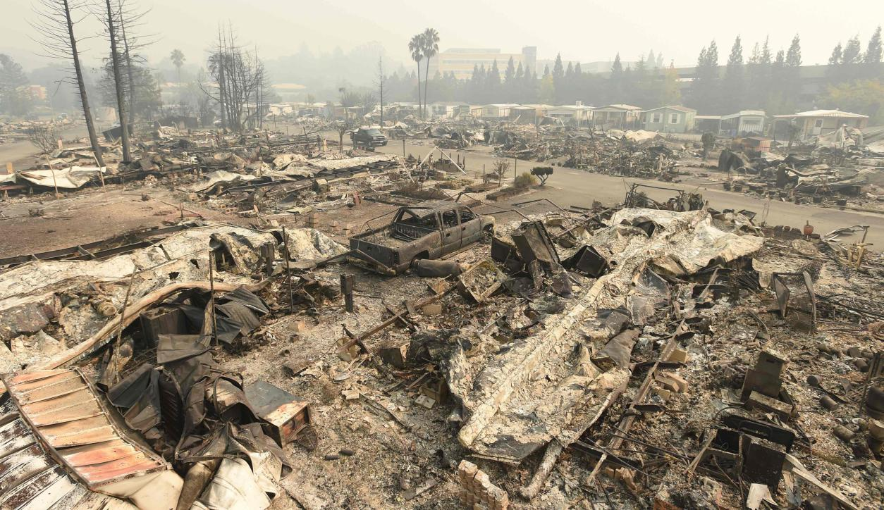 Incendio en California. Foto: AFP