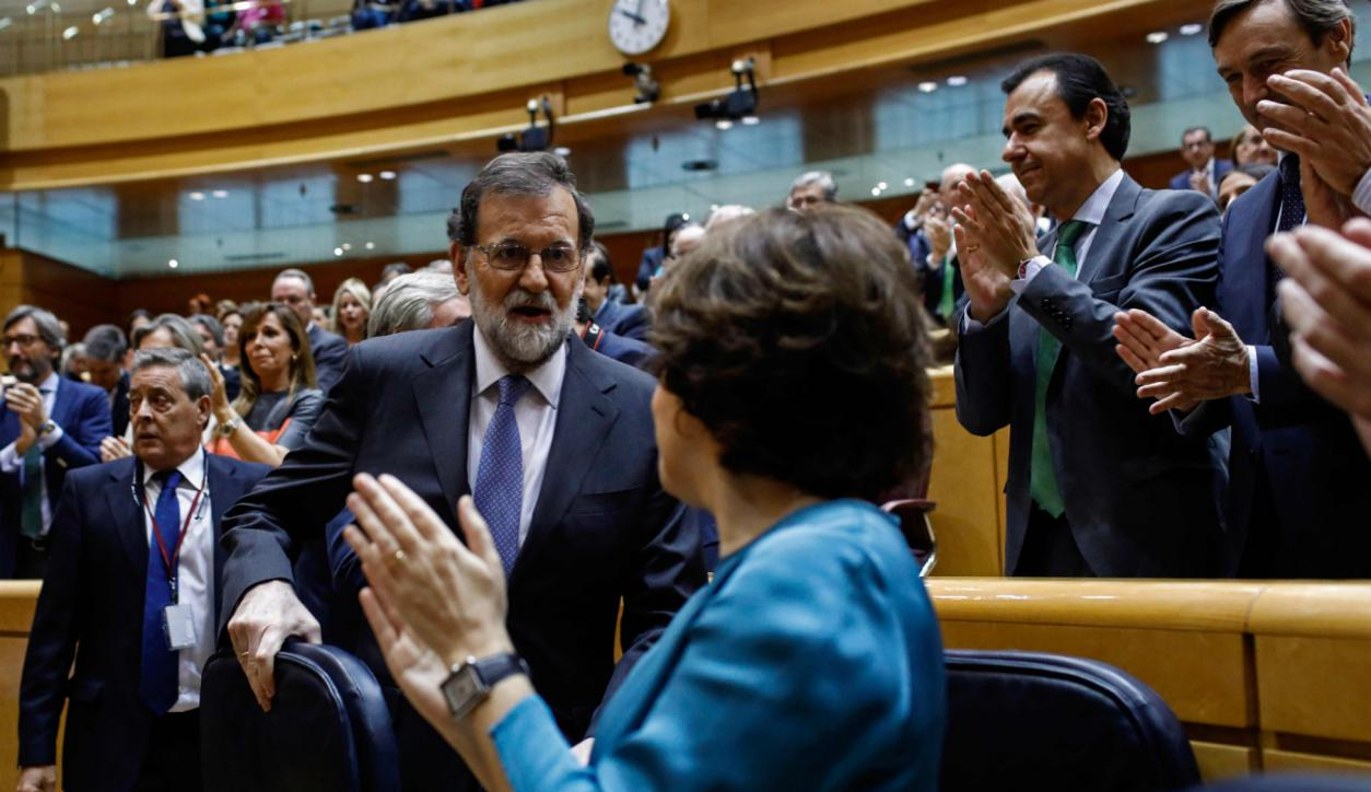 El Senado votó el pedido de Rajoy para aplicar el artículo 155. Foto: AFP.