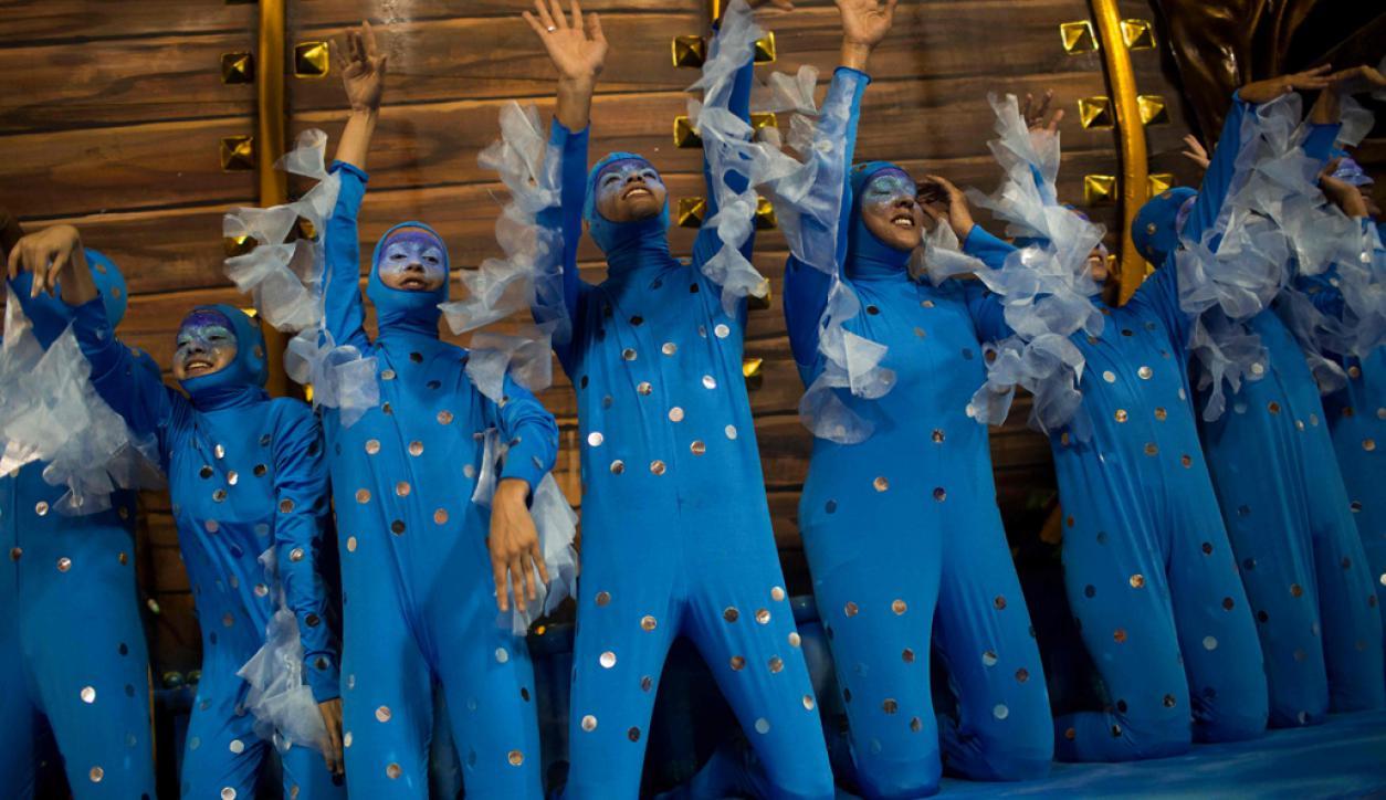 Portela en el Sambódromo. Foto: AFP