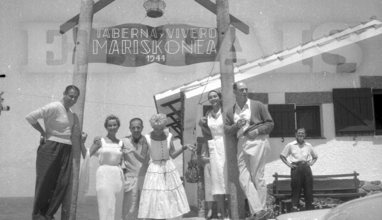 Mirtha Legrand y Luis Sandrini en el festival de Punta del Este de 1951. Foto: Archivo El País