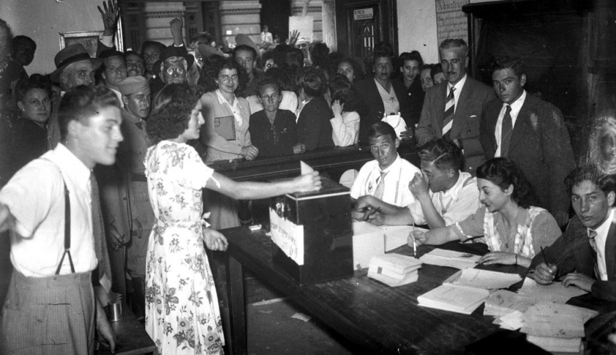 Voto femenino en Uruguay. Foto: Archivo El País