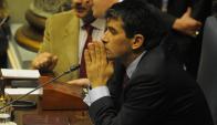 El pedido de homenaje a las misiones de paz derivó en un enfrentamiento a los gritos. Foto: A. Colmegna