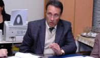 Leonardo Goicoechea durante una reunión en la AUF en 2008. Foto: Archivo El País.