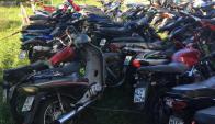 Se incautaron 40 motos tras un operativo en Salto. Foto: Intendencia de Salto.