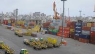 Puerto: escenario de una pelea entre Katoen Natie y Montecon. Foto: A. Colmegna