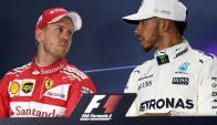 Vettel y Hamilton. Foto: La Nación