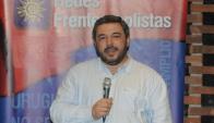 El ministro participó en el acto de las Redes Frenteamplistas. Foto: Agustín Martínez