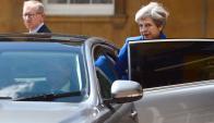 Theresa May sufrió un revés politico en las elecciones. Foto: AFP