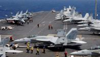 Trump ordenó movilizar el portaaviones nuclear USS Carl Vinson. Foto: Reuters