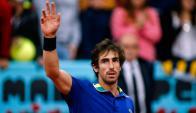 Pablo Cuevas festejando su clasificación. Foto: AFP