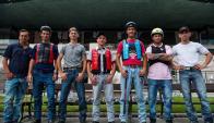 Jinetes. Siete de los 14 profesionales que le darán vida y color a la edición 119 del Ramírez. Foto: Fernando Ponzetto