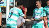 Brian Lozano anotó en su debut con la camiseta de Santos Laguna.