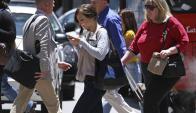 En primer semestre del año, murieron 29 peatones en accidentes en Uruguay. Foto: AFP