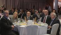 Los ministros Astori, Cosse y Murro en la celebración de los 50 años de la Unión de Exportadores. Foto: F. Flores