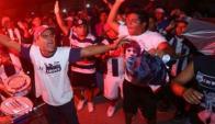 Los hinchas de Alianza Lima dieron la nota en Cutervo esperando un título