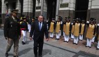 Chediak asumió en presencia de Bonomi y los expresidentes Sanguinetti y Lacalle. Foto: F. Flores