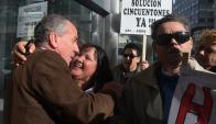 Celebración: los cincuentones festejan la decisión con Murro. Foto: A. Colmegna
