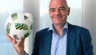 Gianni Infantino, presidente de la FIFA. Foto: AFP.
