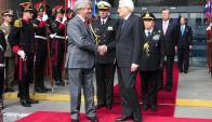 Los presidentes de Uruguay e Italia estuvieron reunidos en la Torre Ejecutiva. Foto: Presidencia
