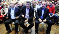 Líderes: Amorín Batlle, Bordaberry, y Coutinho. Detrás Sanabria y Amado. Foto: Archivo El País