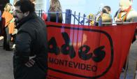 ADES decide hoy la fecha de paro. Foto: Archivo El País