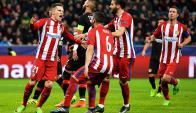 Atlético de Madrid venció por 4-2 a Bayer Leverkusen. Foto: EFE