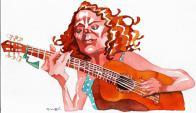 Florencia Núñez. Dibujo de Ombú.