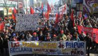 La rama frigorífica y la láctea fueron las que desataron las protestas mayores. Foto: A. Colmegna