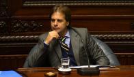 Luis Lacalle Pou en el Senado. Foto: A. Colmegna