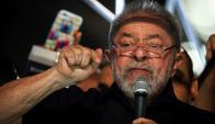 Lula Da Silva en una manifestación en San Pablo, en marzo. Foto: Efe.