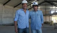 Socios. Andrés Scotti y Mario Rebollo mostraron Enfoque, representando también a Diego Godín y Vicente Sánchez.  Foto: Ariel Colmegna