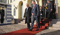 UPM fue centro de conversación entre Vázquez y Ninistö. Foto Presidencia