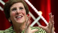 Irene Rosenfeld. Dimitirá en noviembre como CEO del gigante de snacks. Foto: Reuters.