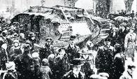 """El tanque fue bautizado """"Fray Bentos"""" por los propios soldadosl. Foto: René Boretto Ovalle"""