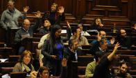 Gobierno inicia discusión con la atención en la falta de mayoría parlamanentaria. Foto: F. Ponzetto
