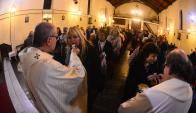 El cardenal Sturla presidió la misa de las 19:00 en iglesia de la calle Comercio. Foto: G. Pérez