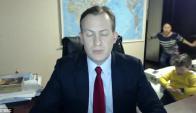 Robert Kelly entrevistado por la BBC. Captura de pantalla