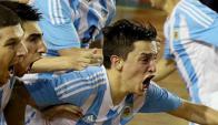 Triunfo. Argentina venció con claridad a La Celeste 3-1.