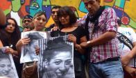 Mi Morena realiza una movilización en homenaje a Valeria Sosa. Foto: Gabriel Rodríguez