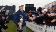 Espectacular. Jordan Spieth ya se consagró y ahora va por los grandes récords del golf. Foto: EFE