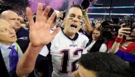 Tom Brady en los festejos de los Patriots por el Superbowl. Foto: EFE-
