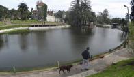 Lago del Parque Rodó.