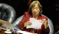 Muñoz dijo que es falso que le dé orden a los funcionarios sobre lo qye deben decir. Foto: D. Borrelli