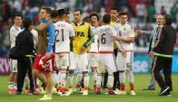 La selección de México venció a Rusia y pasó a semifinales. Foto: EFE