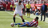Sevilla empató 0-0 ante Sporting Gijón. Foto: EFE