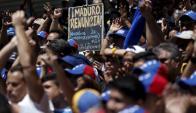 Una de las manifestaciones realizadas en marzo de 2016, en Caracas. Foto: Reuters.