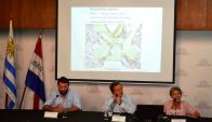 Expertos: Montes (MGAP), Amaro (MGAP) y García (INIA). Foto: MGAP