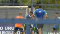 Jonathan Silva y Juan Insaurralde se tomaron a  golpes en el entrenamiento de Boca. Foto: Captura de video