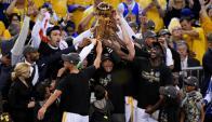 Golden State Warriors logró su segundo título en tres años y el quinto de la historia. Foto: Reuters