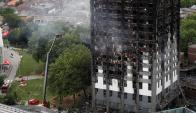 Incendio en Londres. Foto: Reuters